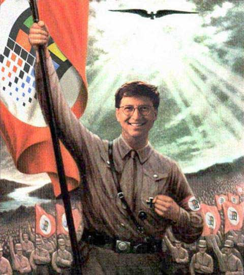 Bill Gates as Hitler