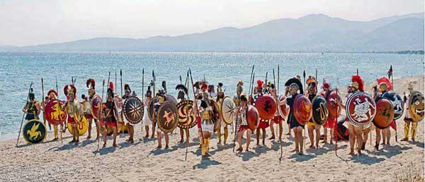 Roman reenactors at Marathon