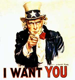 I want you! WWI Uncle Sam recruiting poster! Dougboys